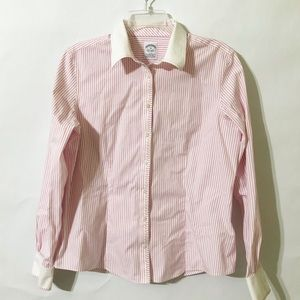 Brooks Brothers Striped Button Up Top